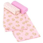 Koala Baby Receiving Blankets - 3-Pack - Pink Monkey