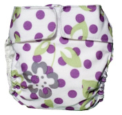 CuteyBaby Modern Cloth Nappy All in One - Purple Lime