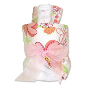Trend Lab Hooded Towel Gift Cake in Hula Baby Print