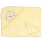 Gerber Bath Hooded Towel and Washcloth Set - Neutral
