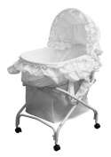 Dream On Me 2-in-1 Bassinet to Cradle - White