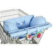 Leachco Prop 'R Shopper Body Fit Shopping Cart Cover - Blue Pin Dots
