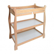 Badger Basket 02212 Natural Sleigh Style Changing Table