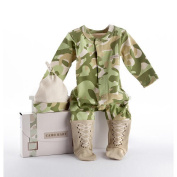 Baby Aspen BA16010TN Big Dreamzzz Baby Camo Two-Piece Layette Set in Backpack Gift Box