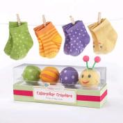 Baby Aspen 'Caterpillar Crawlers' Baby Socks Gift Set - Mutli