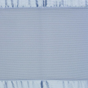 BreathableBaby Breathable Safer Bumper - Fits All Cribs - Blue