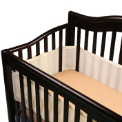 BreathableBaby Breathable Safer Bumper - Fits All Cribs - Ecru