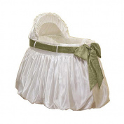 Baby Doll Shantung Bubble Bassinet Set - Sage