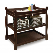 Badger Basket Baby Changing Table with Safety Belt - Espresso