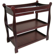 Badger Basket 02232 Cherry Sleigh Style Changing Table