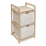 Badger Basket Natural/Unfinished Two Drawer Lightweight Hamper/Storage Unit