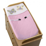 JoJo Designs Pink and Purple Butterfly Collection Changing Pad Cover
