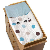JoJo Designs Blue and Chocolate Mod Dots Collection Changing Pad Cover