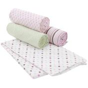 Carter's 4 Pack Receiving Blanket - Floral Dot