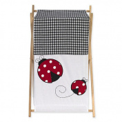 JoJo Designs Polka Dot Ladybug Collection Laundry Hamper