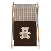 JoJo Designs Chocolate Teddy Bear Collection Laundry Hamper