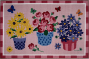 LA Rug OLK-014 3958 Olive Kids Collection - Blossoms & Butterflies Rug - 99.1cm x 147.3cm