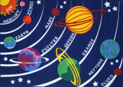 Fun Rugs Fun Time Solar System Rectangle Rug, Multi-Colour