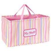 Little Boutique Crunch Tote - Pink Stripe