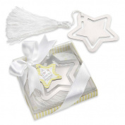 Kate Aspen 14059NA A Star is Born Metal Bookmark with White-Silk Tassel- Case of 96