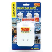 JACKSON Outbound Travel Adaptor. includes 2 x USB CHarging Ports. Converts NZ/Aust plugs for use