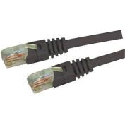 DYNAMIX 15M Cat5E Black UTP Patch Lead (T568A Specification) 350MHz Slimline Molding & Latch Down