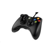 MICROSOFT Wired XBOX 360 CONTROLLER - BLACK For PC &Xbox 360