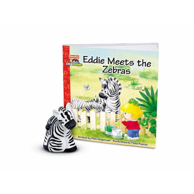 Fisher-Price Little People Zoo Talkers Book with Figure - Zebra