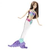 Barbie Sparkle Lights Mermaid Doll - Brunette