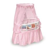 Badger Basket Oval Doll Bassinet with Bedding