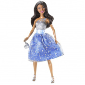 Barbie Glitter Princess Doll African American - Blue/Silver