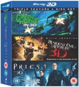 The Green Hornet/Priest/Resident Evil [Region B] [Blu-ray]