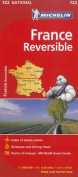 Michelin France Reversible Road and Tourist Map
