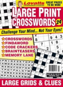 Large Print Crosswords - 1 year subscription - 4 issues