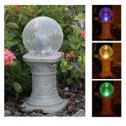 Chameleon Crackled Glass Solar Gazing Ball