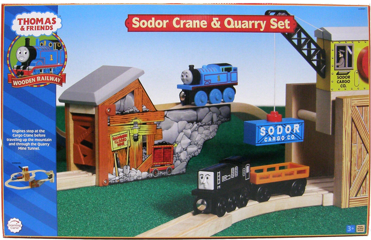 Thomas Wooden Sodor Crane Quarry Set