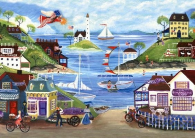 Ravensburger Lovely Seaside - 500 Piece Puzzle, New,  .