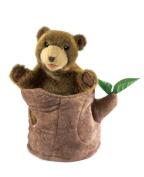 Bear In Tree Stump Hand Puppet by Folkmanis - 2904