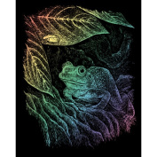 ENGRAVING ART & TOOL RAINBOW STYLE FROG AND FOLIAGE