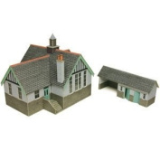 Metcalfe PO253 OO Gauge Card Kit - Village School