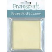 Framecraft Acrylic Square Coaster SC33, for Needlework/Craft, 81mm