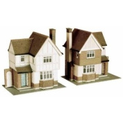 B23 Superquick 2 Detached Houses - 1/72 OO/HO - Card Model Kit