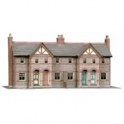 B30 Superquick 4 Terraced Houses - 1/72 OO/HO - Card Model Kit
