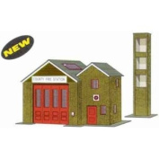 B36 Superquick Country Fire Station - 1/72 OO/HO - Card Model Kit
