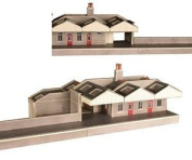 Metcalfe PN131 N Gauge Parcels & Waiting Room Card Kit