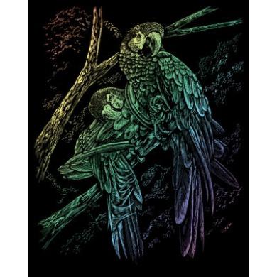 ENGRAVING ART & TOOL RAINBOW STYLE TROPICAL BIRDS
