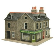 Metcalfe PO264 OO Gauge Card Kit - Corner Shop Stone
