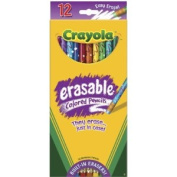 . Erasable Coloured Pencils-12/Pkg Long