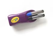 . Dry-Erase Broad Line Markers & Magnetic Eraser-Black/Blue