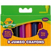 8 Mini Kids Jumbo Crayons.